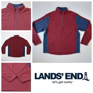 Lands' End Sweater With Collar and Zipper